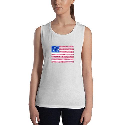 American Flag Women's Muscle Tank