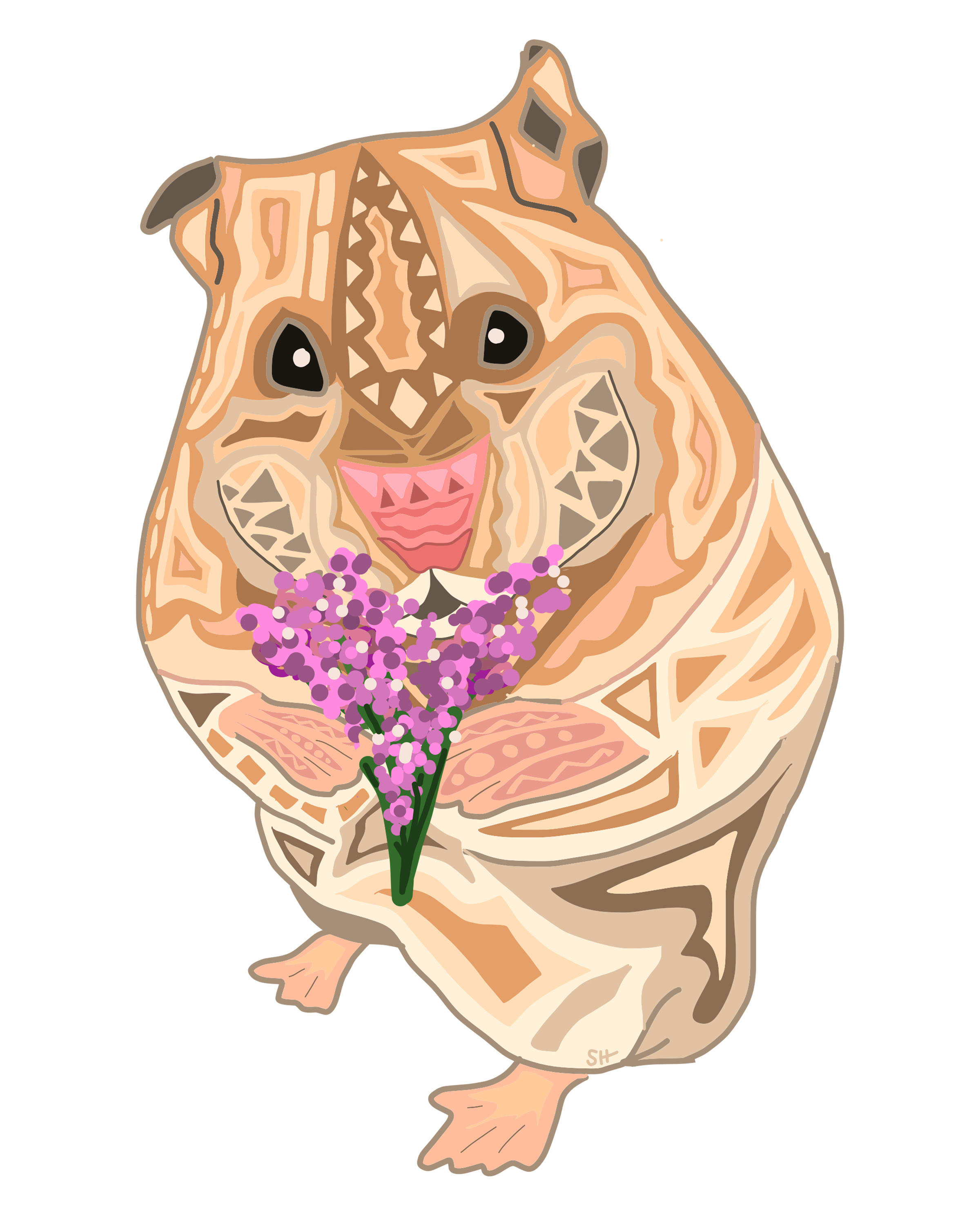HamsterFlowers_SarahHiersDesign_8x10