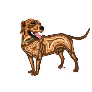 Sarah Hiers Design Brown Dog Gary