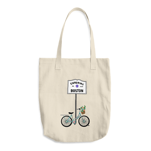Boston Bike Tote Bag