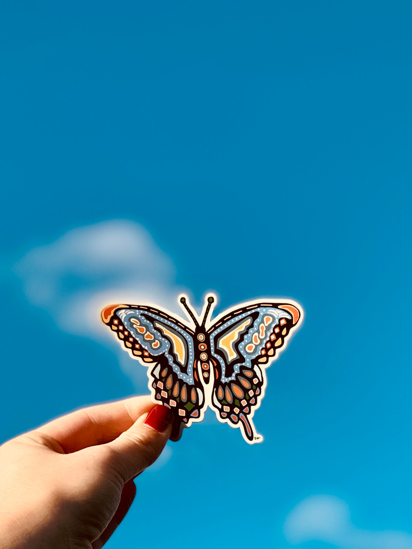 Sarah Hiers Design Butterfly Sticker