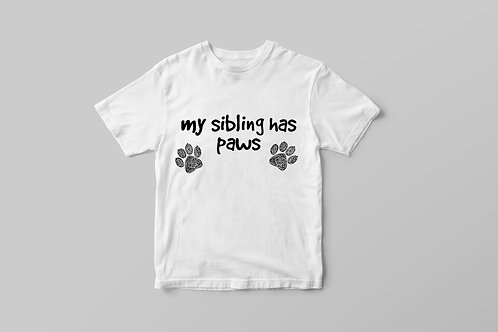 My Sibling Has Paws Youth T-shirt