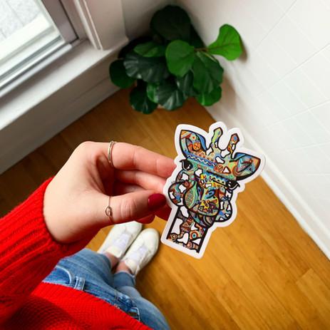 Sarah Hiers Design Giraffe Sticker