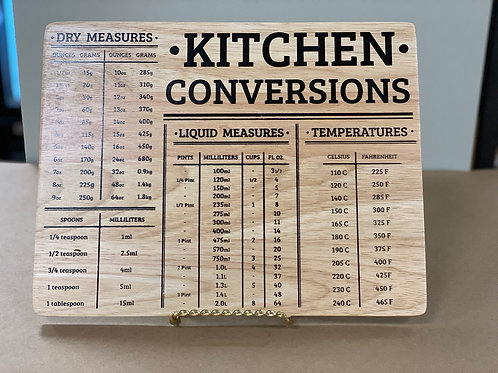 Kitchen Conversion Board