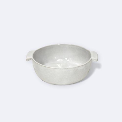 White Round Baker