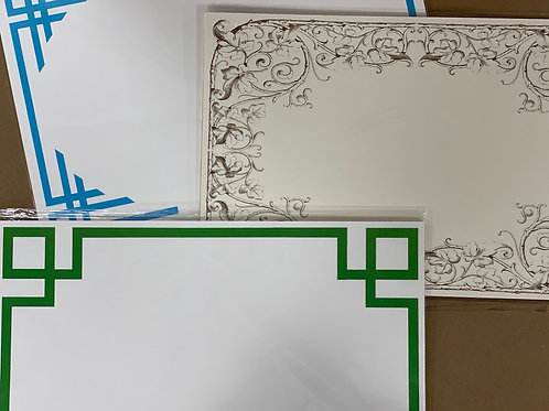 Bordered Paper Placemats