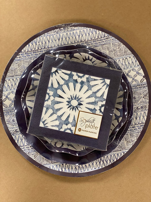 Navy Dinnerware Full Set