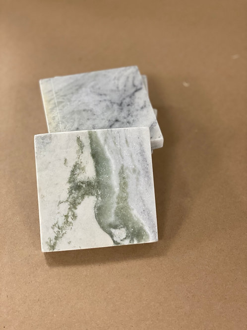 Marble Square Coaster Set