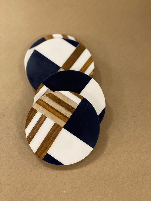 Round Geometric Coasters