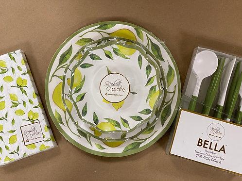 Lemon Dinnerware Full Set