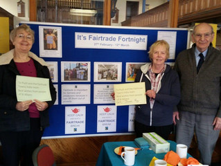"Fairtrade Fortnight in the UK – our St Albans coffee morning to support ""Fairtrade Towns in India"""