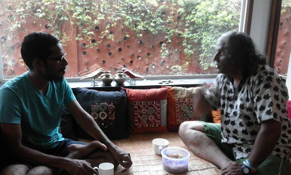 Discussing the Day's Walk with Natesa Iyer . #Gopushgo