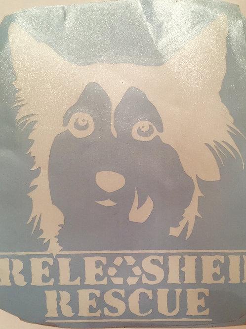 White Releashed Rescue Window Sticker