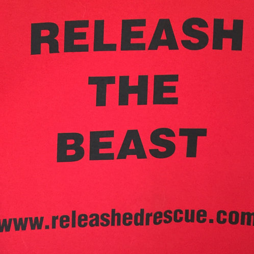 """Red """"Releash the Beast"""" T-Shirt"""