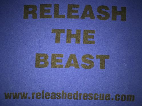"Blue ""Releash the Beast"" T-Shirt"