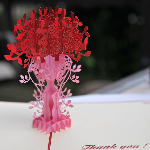 Pink and Red Flower Bouquet