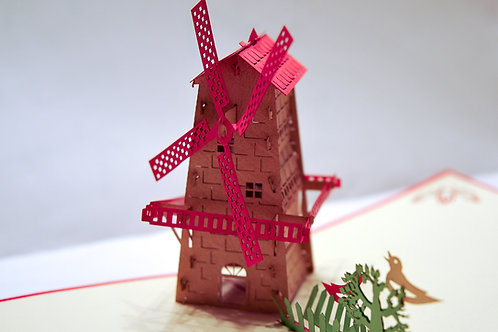 Red Roofed Windmill