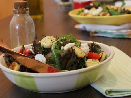 salada pode ser muito saborosa