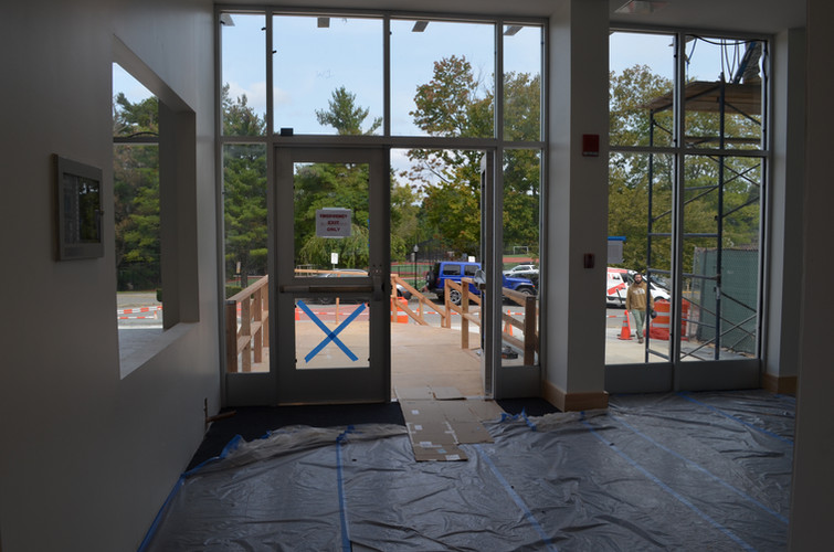 View out the new front door