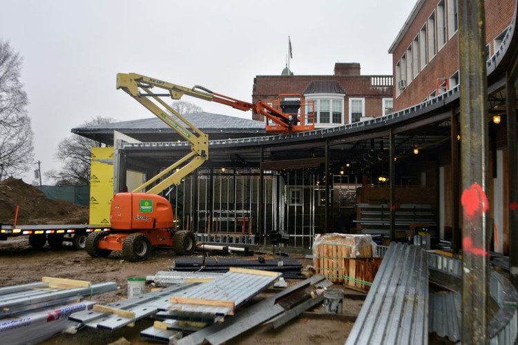 Construction on the iHub roof