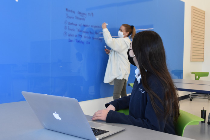 Science class in the iHub