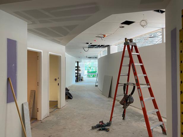 Offices & circular hallway