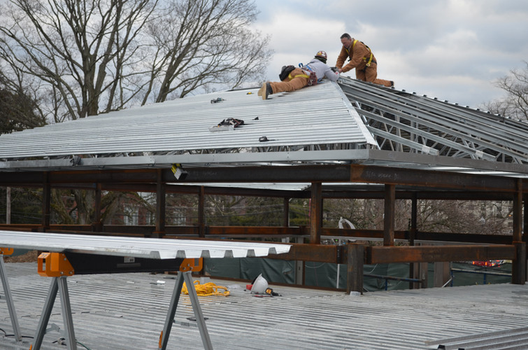 Roofing the lobby