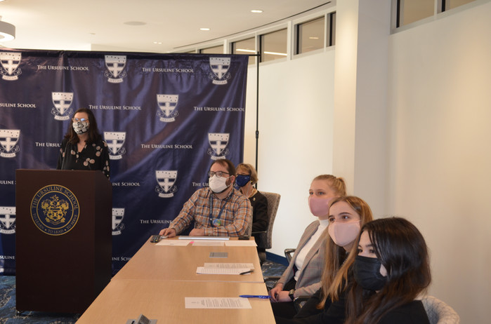 Global Scholars present in High Tech Media Conf Ctr