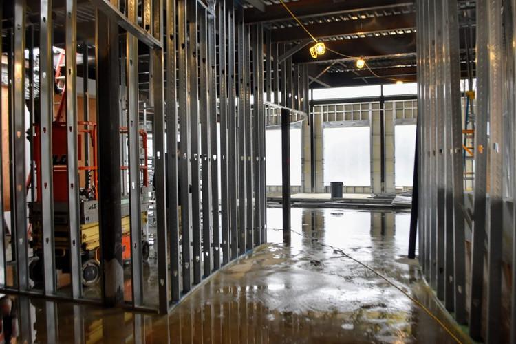 Inside look as new hallway built