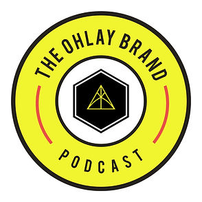 The OHLAY Brand Podcast - Logo (Zoomed O