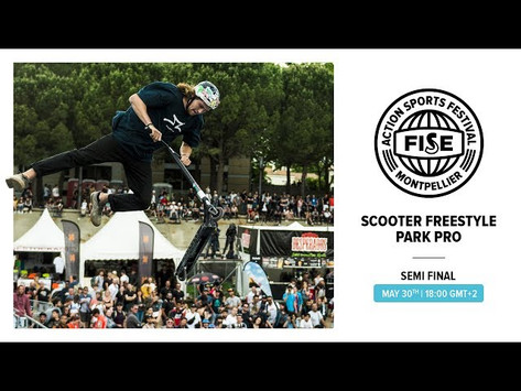 (278) FISE 2019 MONTPELLIER: Scooter Freestyle Park Pro Semi Final