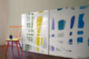 Paintings dry slowly in studio