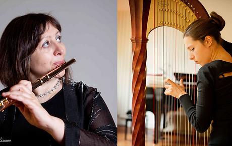 duo flute et harpe les connivences sonores par le bureau du classique