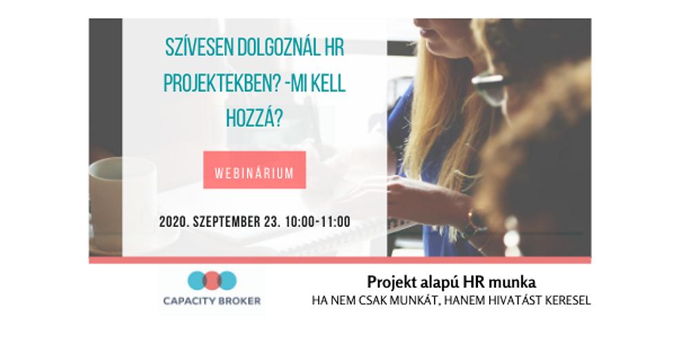 Szívesen dolgoznál HR projektekben - Mi kell hozzá?