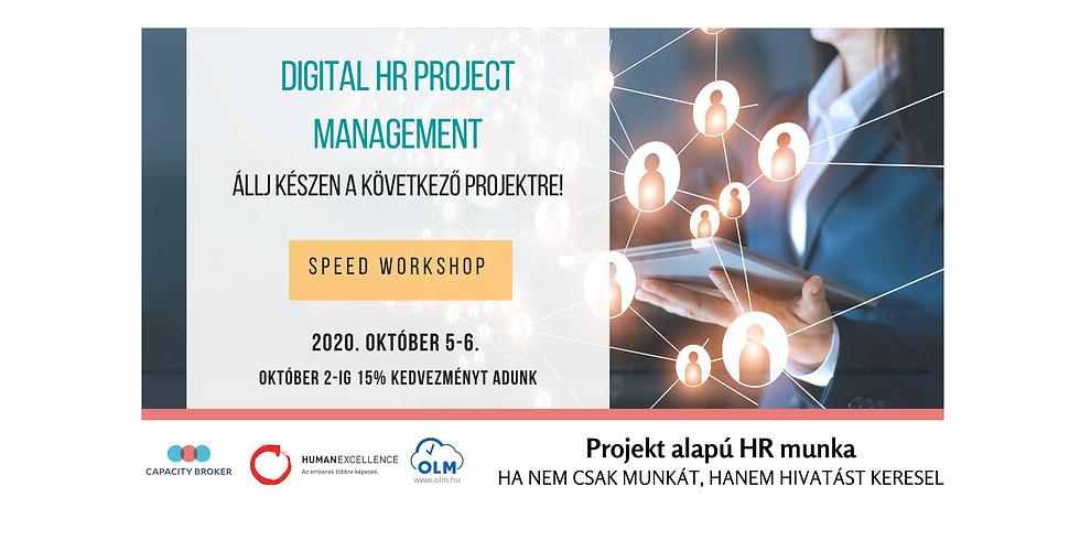 Digital HR Projekt Menedzsment - Online Speed Workshop