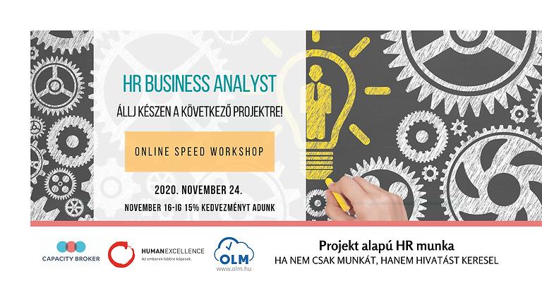 HR BUSINESS ANALYST - Speed Workshop