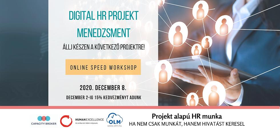 Digital HR Projekt Menedzsment -Speed Workshop