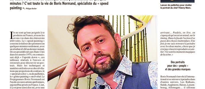 """Portrait dans """"la semaine du Roussillon"""""""