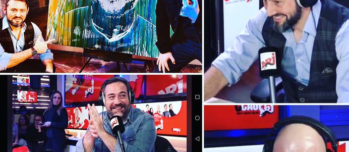"""Portrait de Cauet sur NRJ12. """"Devinez les métiers improbables"""". En pleine interview avec toute l'équipe."""