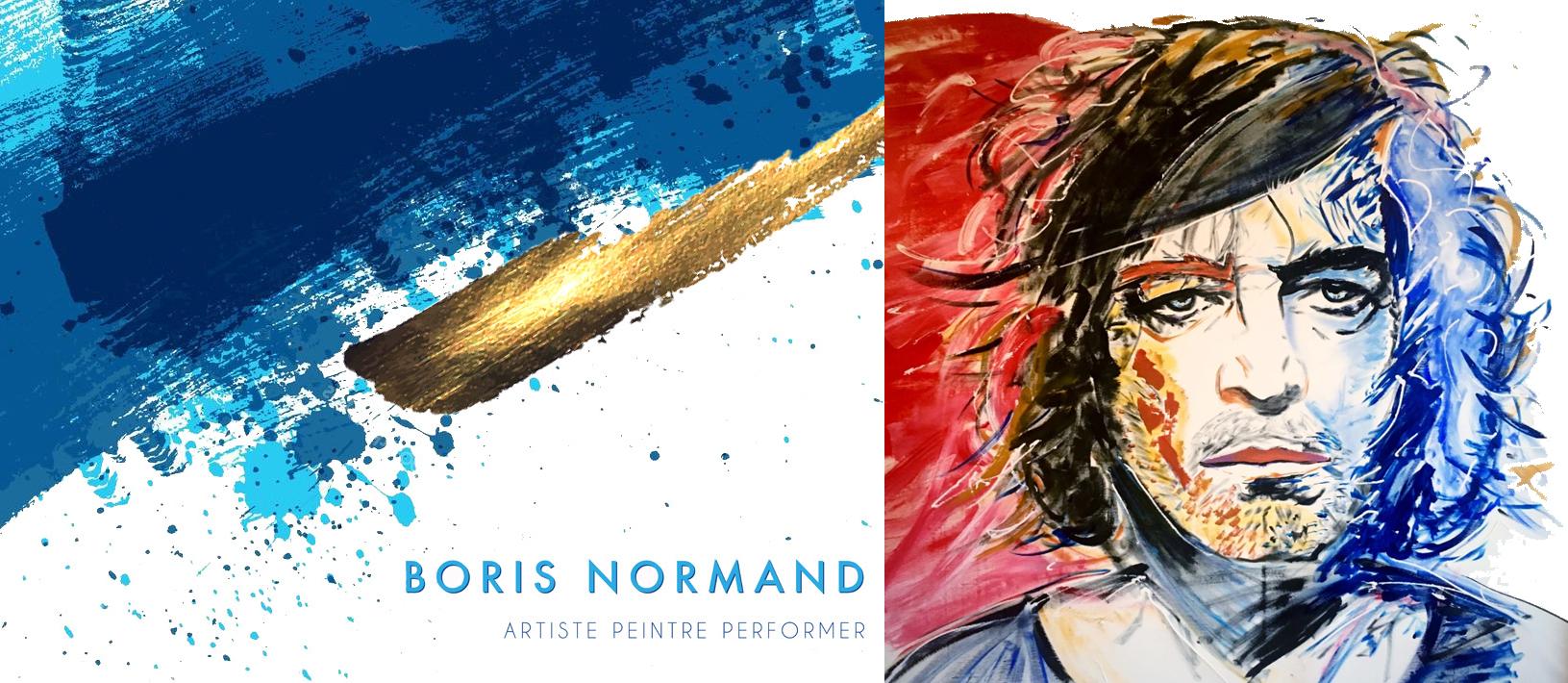 boris normand artiste peintre performer, portrait paillettes