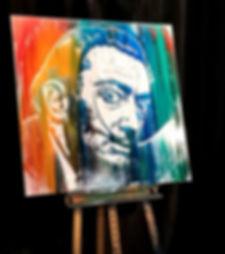 boris normand glitter painting,Salvador