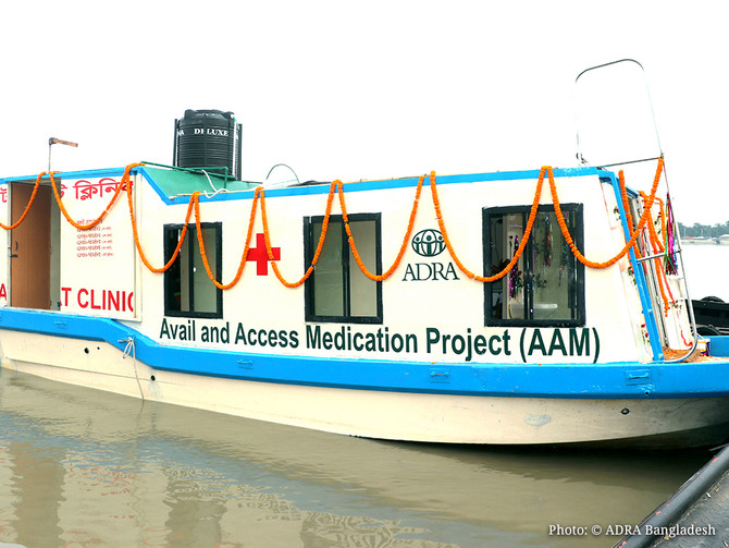 ADRA Bangladesh has Inaugurated the Boat Clinic: A New Dimension of Medical Services
