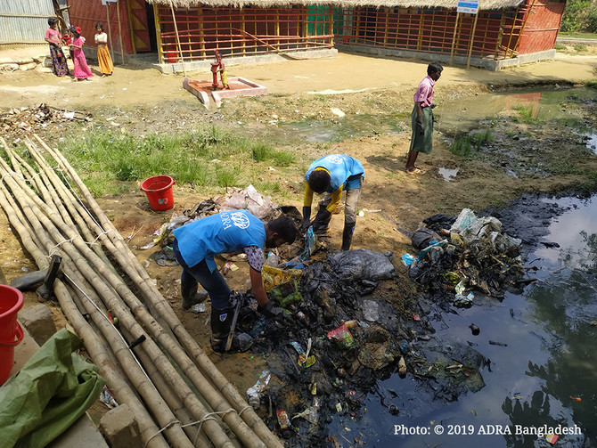 Waste Cleaning Campaign in the Rohingya Camp