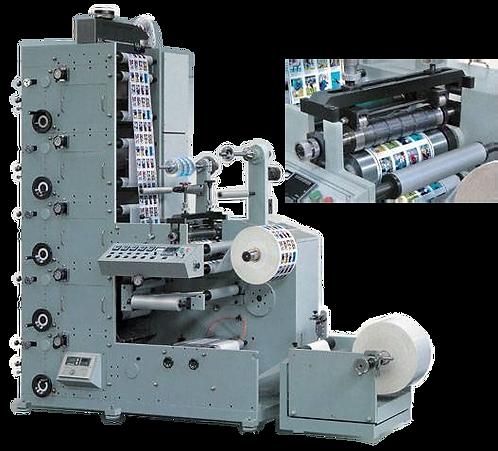 ZN-ZS320A : Impression d'étiquettes, presse flexo, 4 couleurs