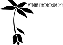 Logo Myrthe fotograferen tekst rechtsbov