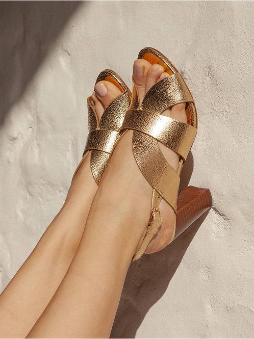 Sandales n°55 doré