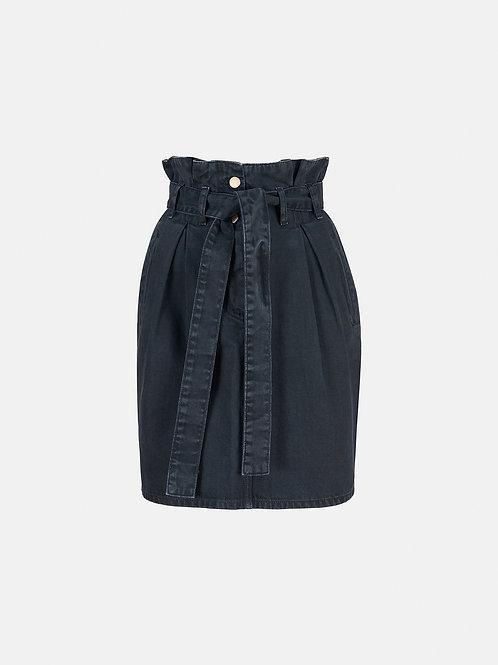 Jupe paperbag noir