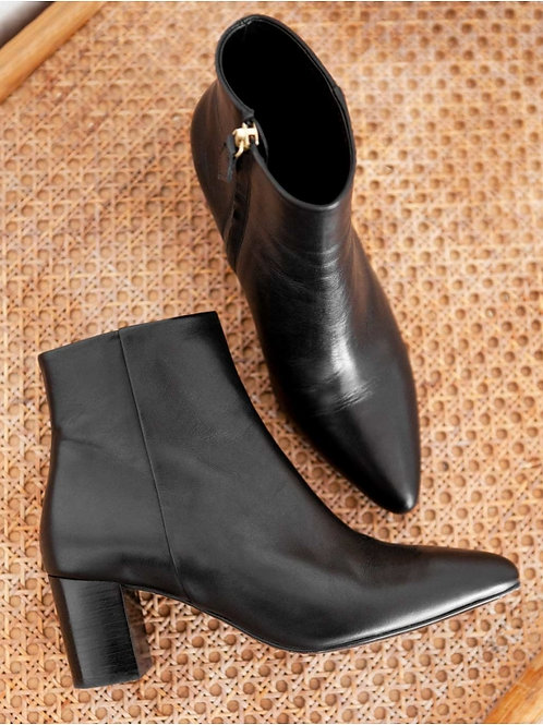 Bottines n°107cuir noir