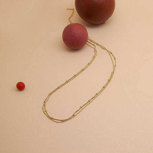 Collier double circle