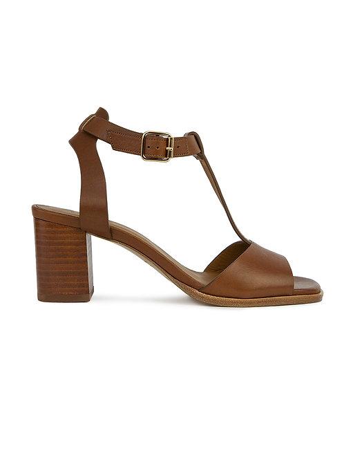 Sandales n°651 cognac
